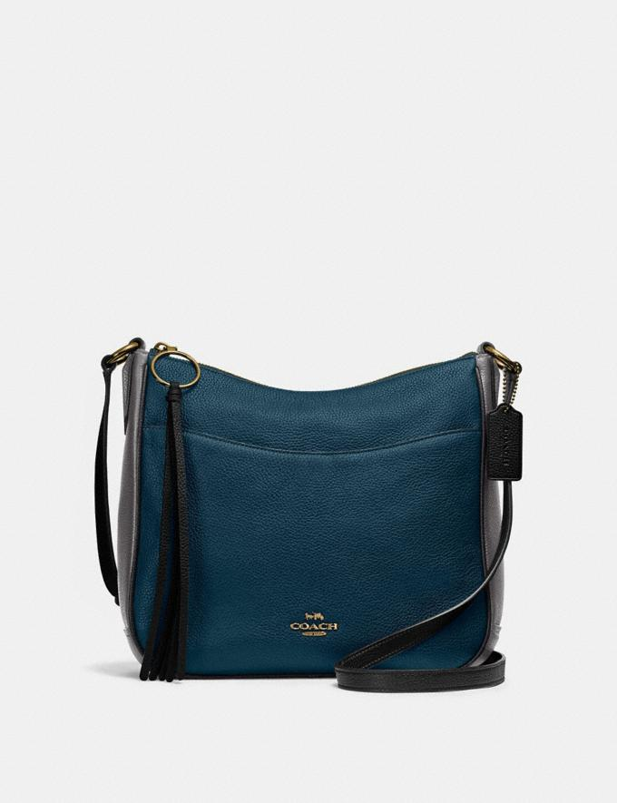 Coach Chaise Crossbody in Colorblock Peacock Multi/Gold SALE Online Exclusives