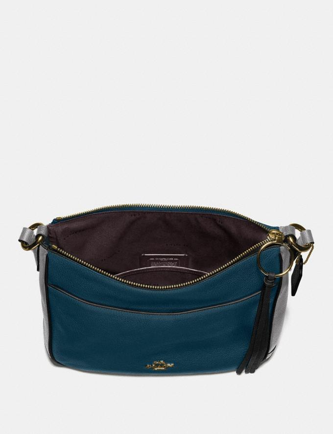 Coach Chaise Crossbody in Colorblock Peacock Multi/Gold SALE Online Exclusives Alternate View 3