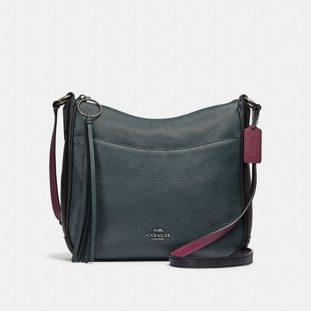 chaise crossbody in colorblock