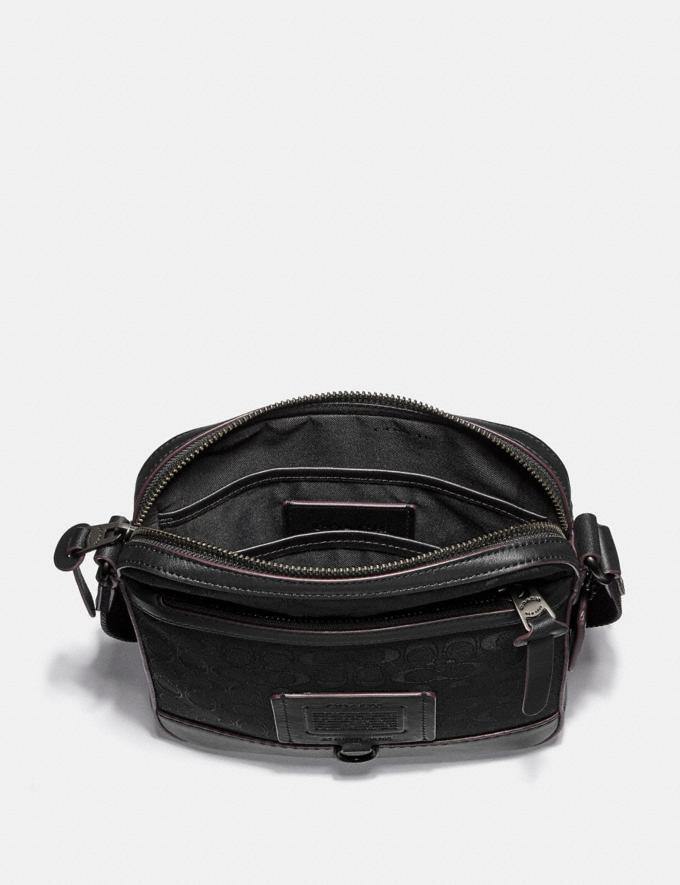 Coach Rivington Crossbody in Signature Jaquard Black/Black Copper Finish Cyber Monday Men's Cyber Monday Sale Bags Alternate View 2
