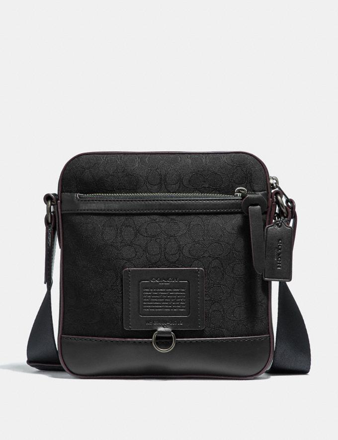 Coach Rivington Crossbody in Signature Jaquard Black/Black Copper Finish Cyber Monday Men's Cyber Monday Sale Bags