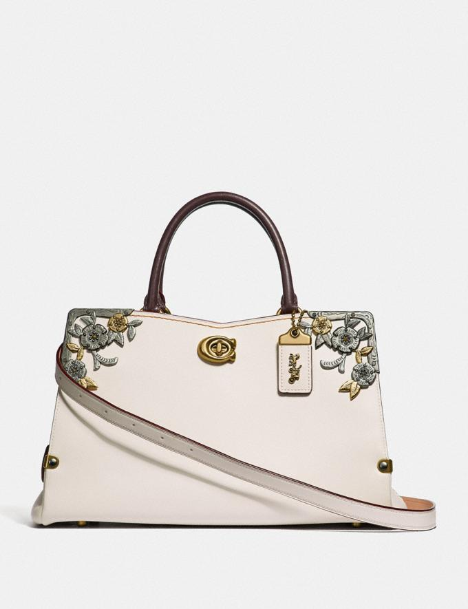 Coach Mason Carryall With Metal Tea Rose Chalk/Brass New Featured Online Exclusives