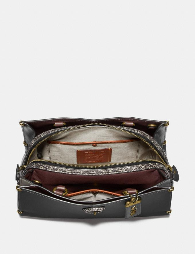 Coach Mason Carryall With Snakeskin Detail Oxblood/Pewter  Alternate View 2