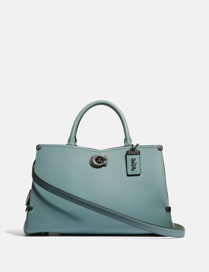 Coach Mason Carryall With Snakeskin Detail Sage/Pewter SALE Women's Sale New to Sale New to Sale