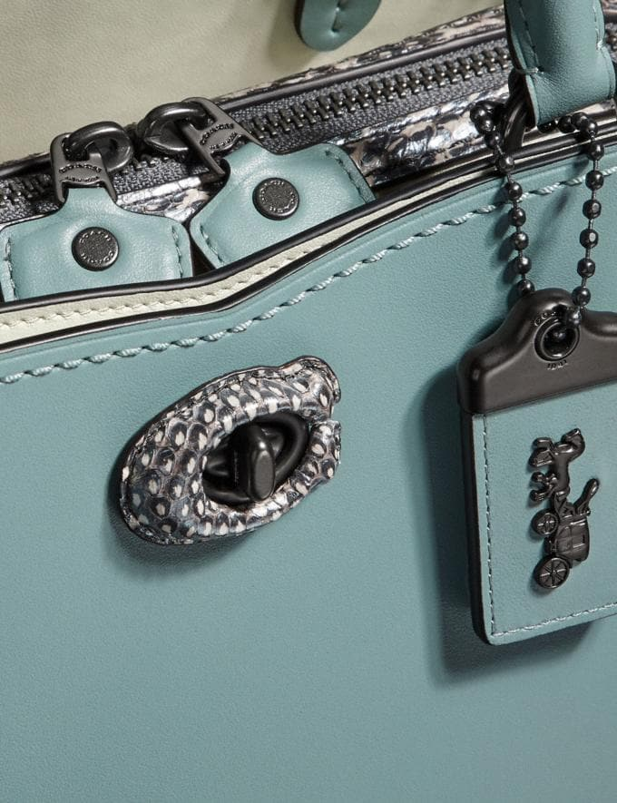 Coach Mason Carryall With Snakeskin Detail Sage/Pewter  Alternate View 5