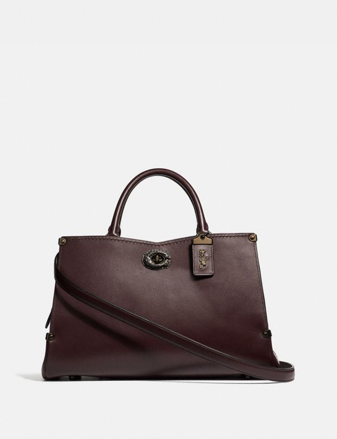 Coach Mason Carryall With Snakeskin Detail Oxblood/Pewter SALE Women's Sale