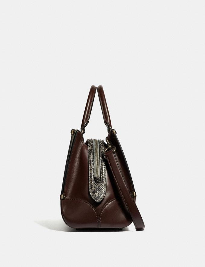 Coach Mason Carryall With Snakeskin Detail Oxblood/Pewter SALE Women's Sale Alternate View 1
