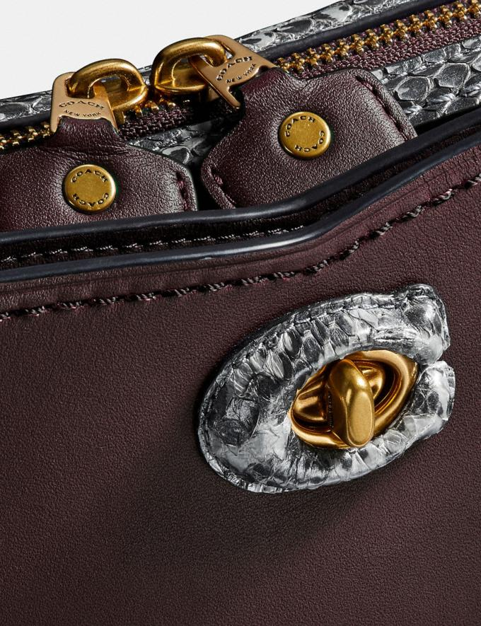 Coach Mason Carryall With Snakeskin Detail Oxblood/Pewter SALE Women's Sale Alternate View 5