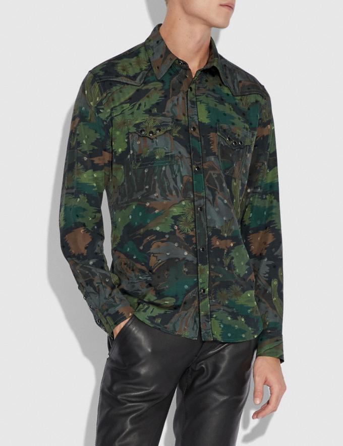 Coach Western Scenery Shirt Military  Alternate View 1