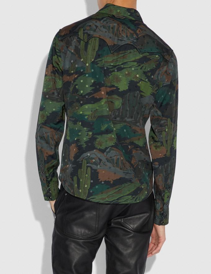 Coach Western Scenery Shirt Military  Alternate View 2