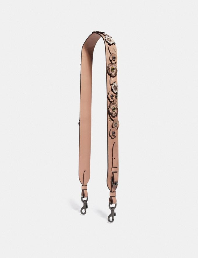 Coach Strap With Crystal Tea Rose Nude Pink/Pewter New Featured Online Exclusives