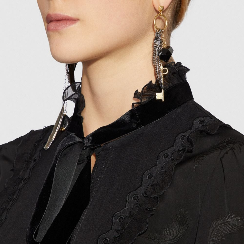 Coach Found Objects Western Charm Earrings Alternate View 2