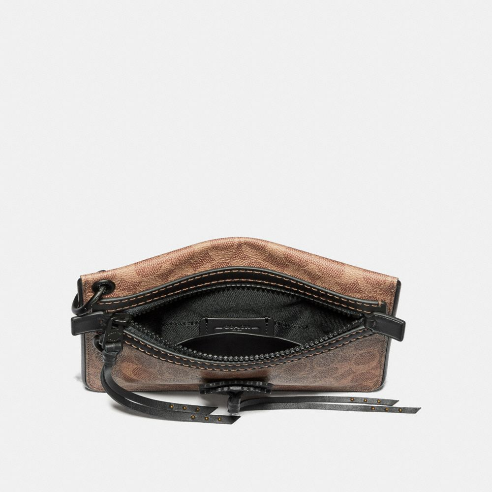 Coach Pouch 22 in Signature Canvas With Whipstitch Alternate View 1