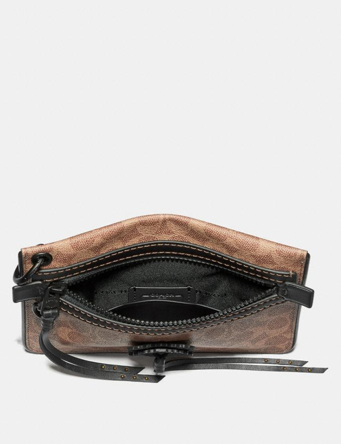 Coach Pouch 22 in Signature Canvas With Whipstitch Khaki Men Accessories Lifestyle Alternate View 1