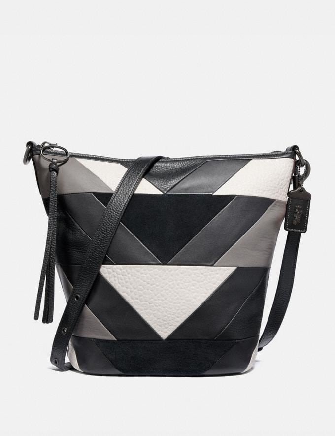 Coach Duffle With Patchwork Black Multi/Pewter