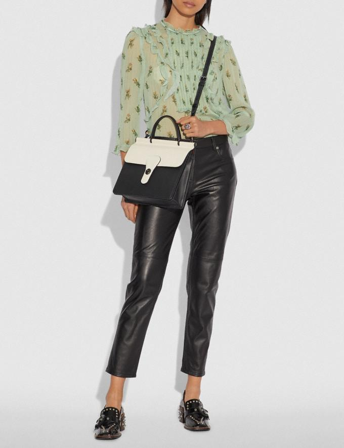 Coach Willis Top Handle in Colorblock Black Multi/Pewter New Women's New Arrivals View All Alternate View 3