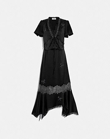 LACE TRIM DRESS