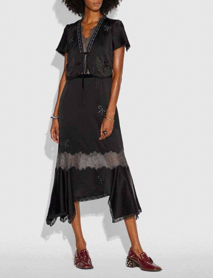 Coach Lace Trim Dress Black  Alternate View 1
