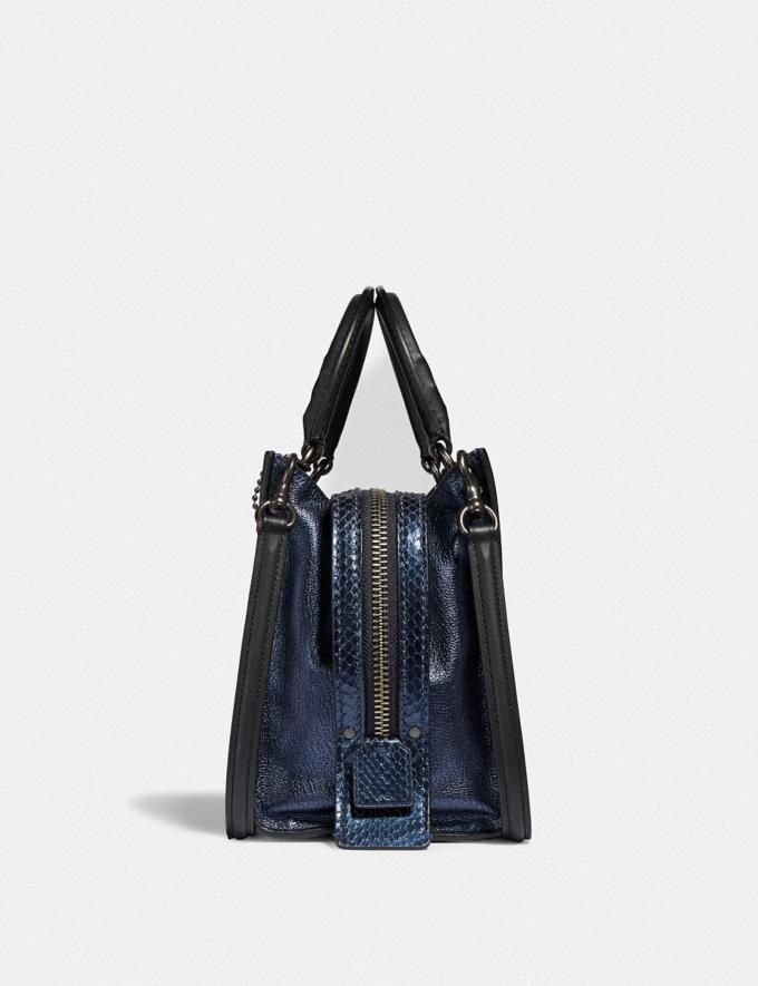 Coach Rogue 25 With Snakeskin Detail Metallic Blue/Pewter Women Collection Rogue Alternate View 1