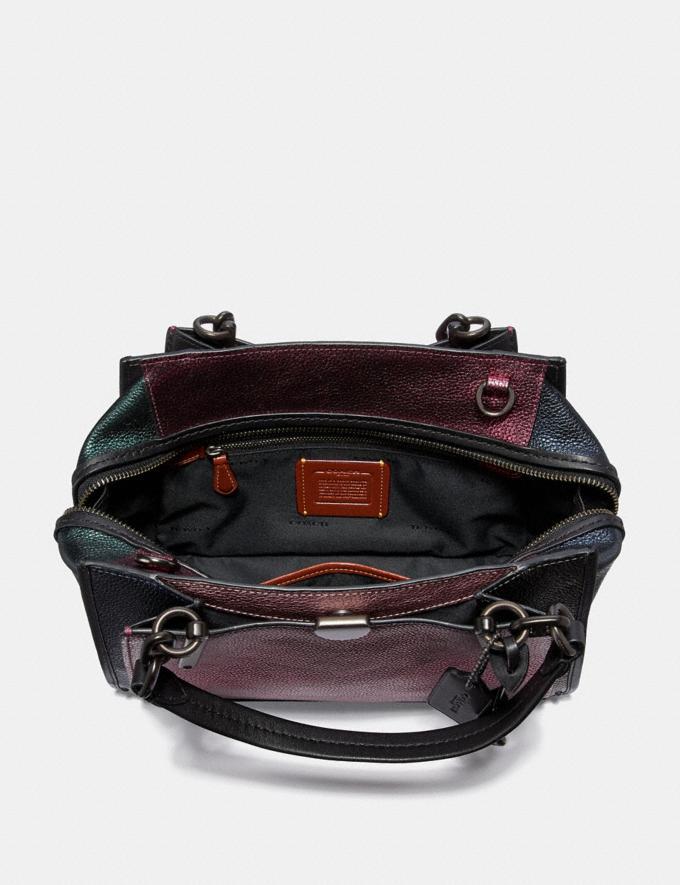 Coach Dreamer in Colorblock Metallic Graphite Multi/Pewter Women Bags Satchels Alternate View 2