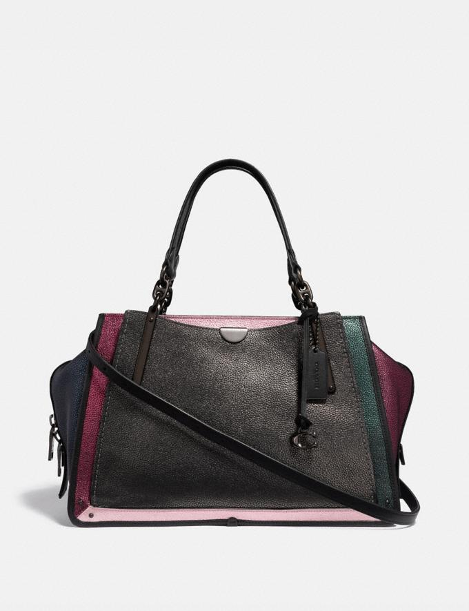 Coach Dreamer 36 in Colorblock Metallic Graphite Multi/Pewter Women Bags Satchels & Carryalls