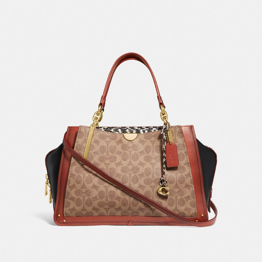 Coach Dreamer 36 in Signature Canvas With Snakeskin Detail