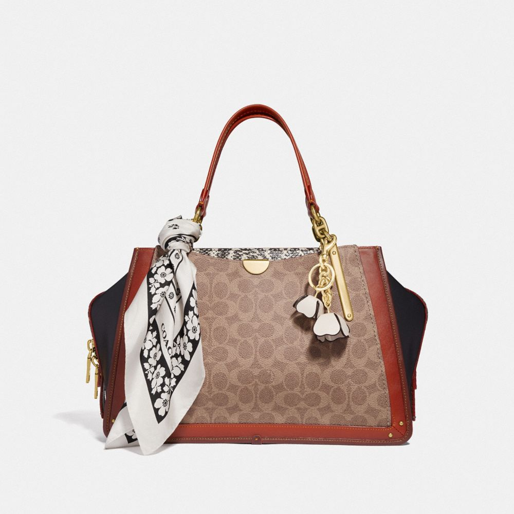 Coach Dreamer 36 in Signature Canvas With Snakeskin Detail Alternate View 3