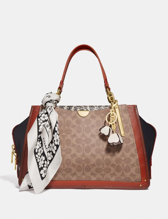Coach Dreamer 36 in Signature Canvas With Snakeskin Detail Tan/Black Multi/Brass Women Bags Satchels & Carryalls Alternate View 3