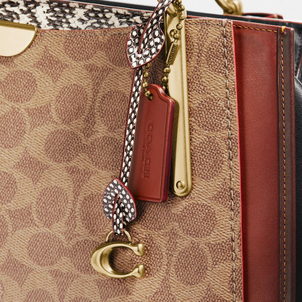 Coach Dreamer 36 in Signature Canvas With Snakeskin Detail Alternate View 6