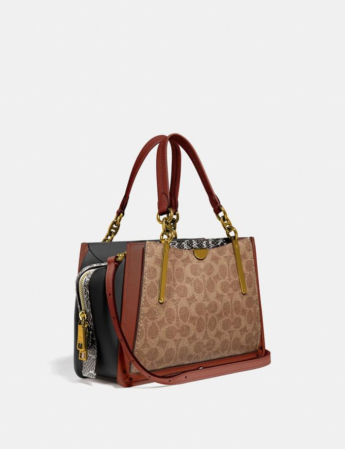 Coach Dreamer in Signature Canvas With Snakeskin Detail Tan/Black Multi/Brass Women Collection Signature Alternate View 1