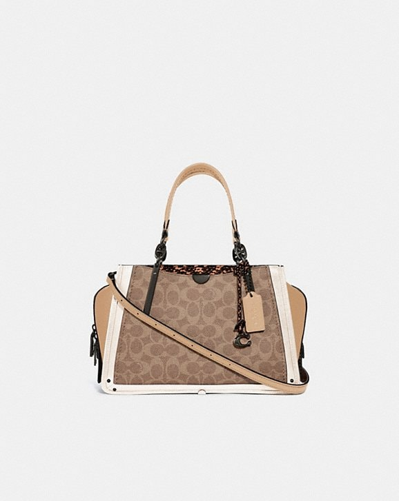 Coach DREAMER IN SIGNATURE CANVAS WITH SNAKESKIN DETAIL