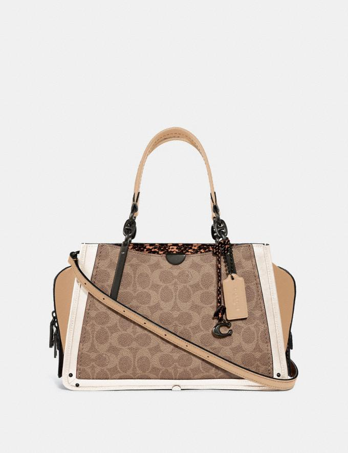 Coach Dreamer in Signature Canvas With Snakeskin Detail Tan/Beechwood Multi/Pewter New Women's New Arrivals View All