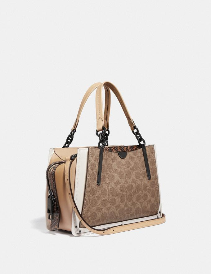Coach Dreamer in Signature Canvas With Snakeskin Detail Tan/Beechwood Multi/Pewter New Women's New Arrivals View All Alternate View 1