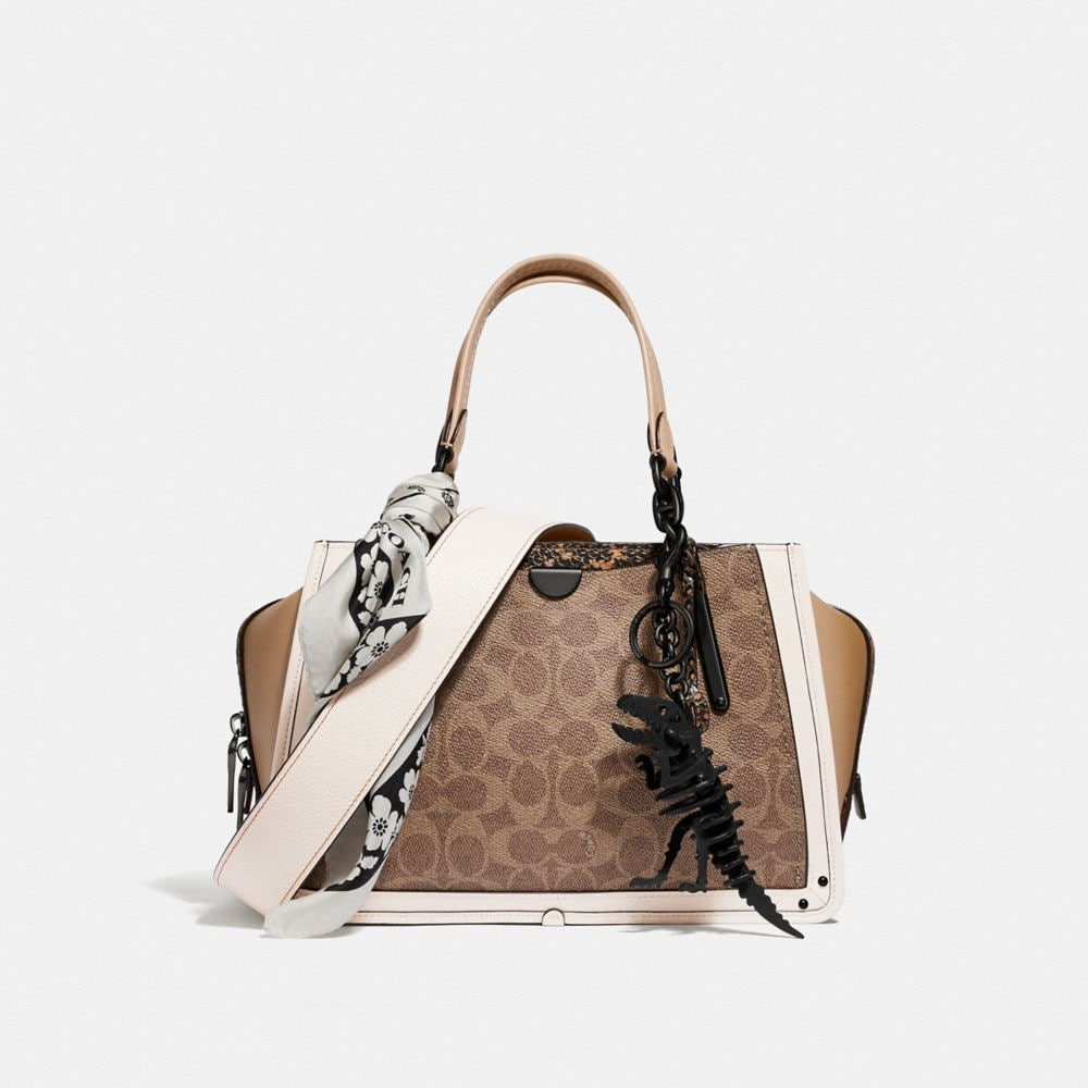 Coach Dreamer in Signature Canvas With Snakeskin Detail Alternate View 3