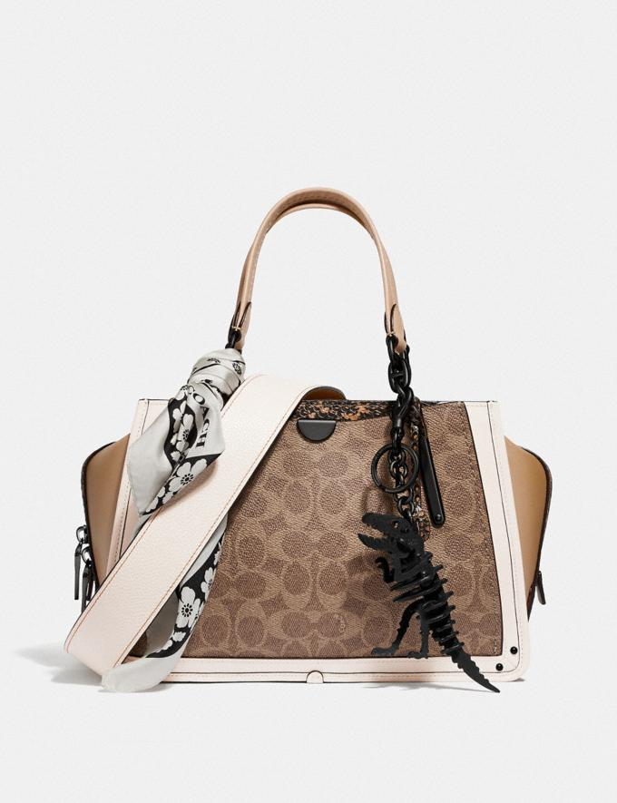 Coach Dreamer in Signature Canvas With Snakeskin Detail Tan/Beechwood Multi/Pewter New Featured Online Exclusives Alternate View 3