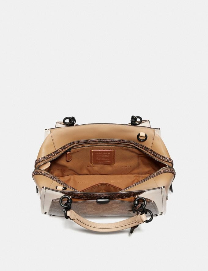 Coach Dreamer in Signature Canvas With Snakeskin Detail Tan/Beechwood Multi/Pewter New Featured Online Exclusives Alternate View 2
