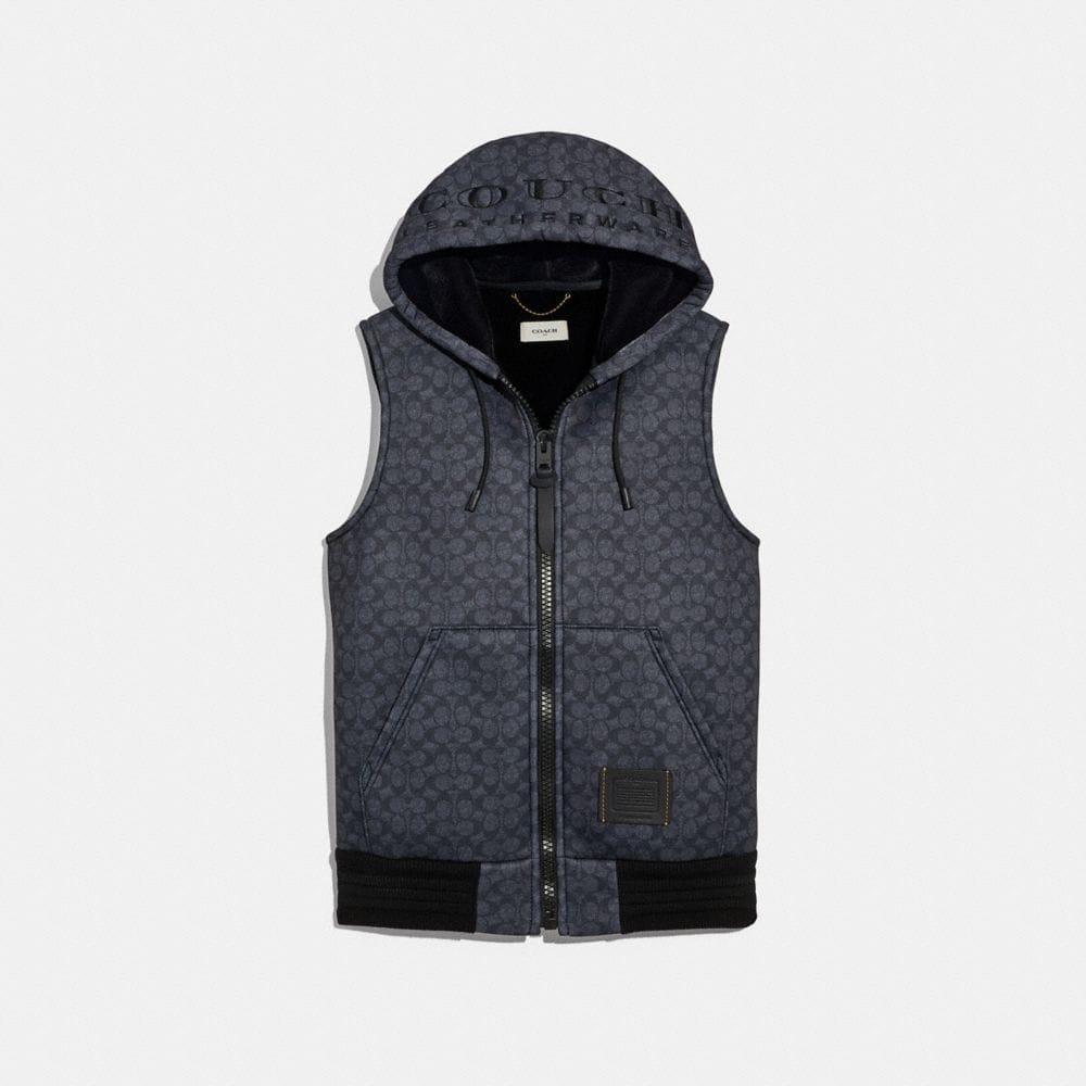 Coach Signature Hoodie Vest