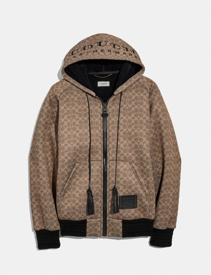 "Coach Signature ""Couch"" Hoodie Khaki"