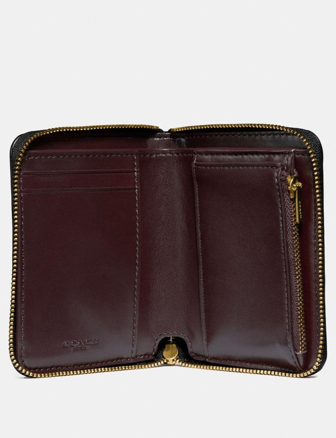 Coach Small Zip Around Wallet With Deco Quilting Black/Brass 30% off Select Full-Price Styles Alternate View 1