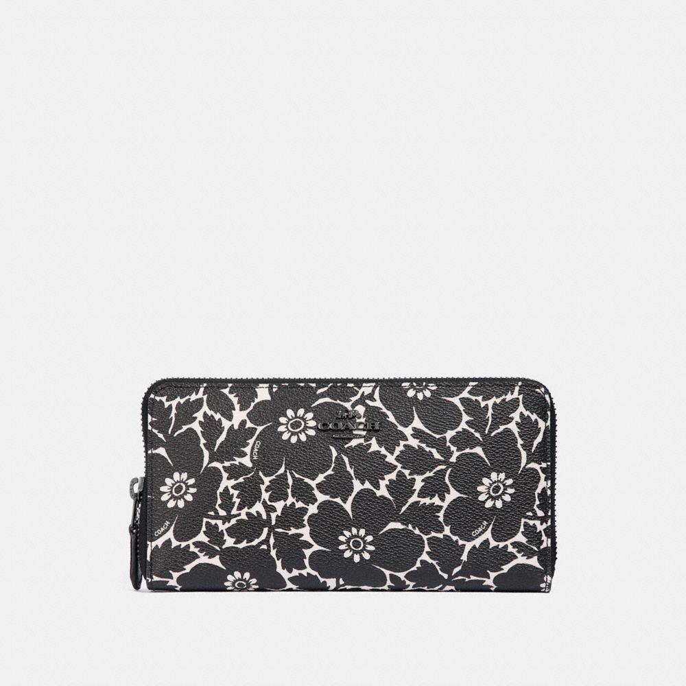 Coach Accordion Zip Wallet With Anemone Print