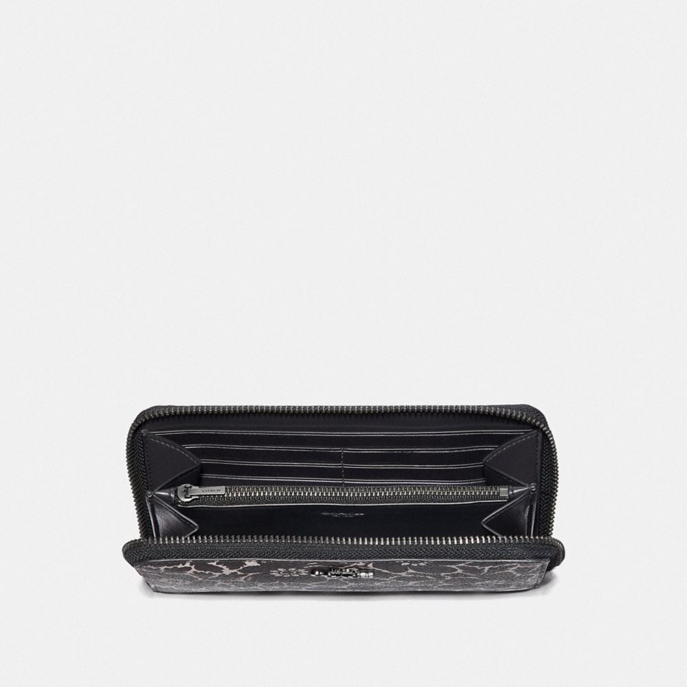 Coach Accordion Zip Wallet With Anemone Print Alternate View 1