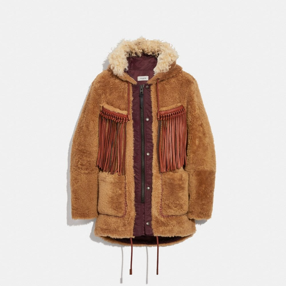 western parka with fringe
