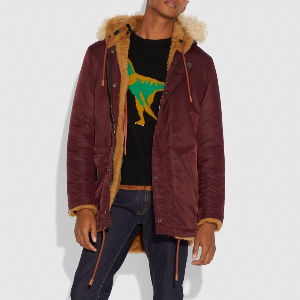 Coach Western Parka With Fringe Alternate View 3