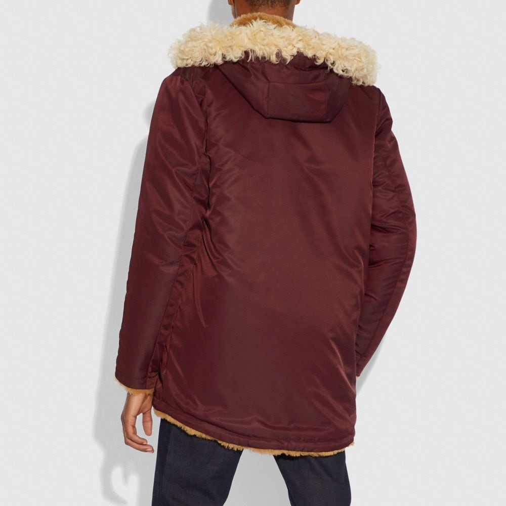 Coach Western Parka With Fringe Alternate View 4