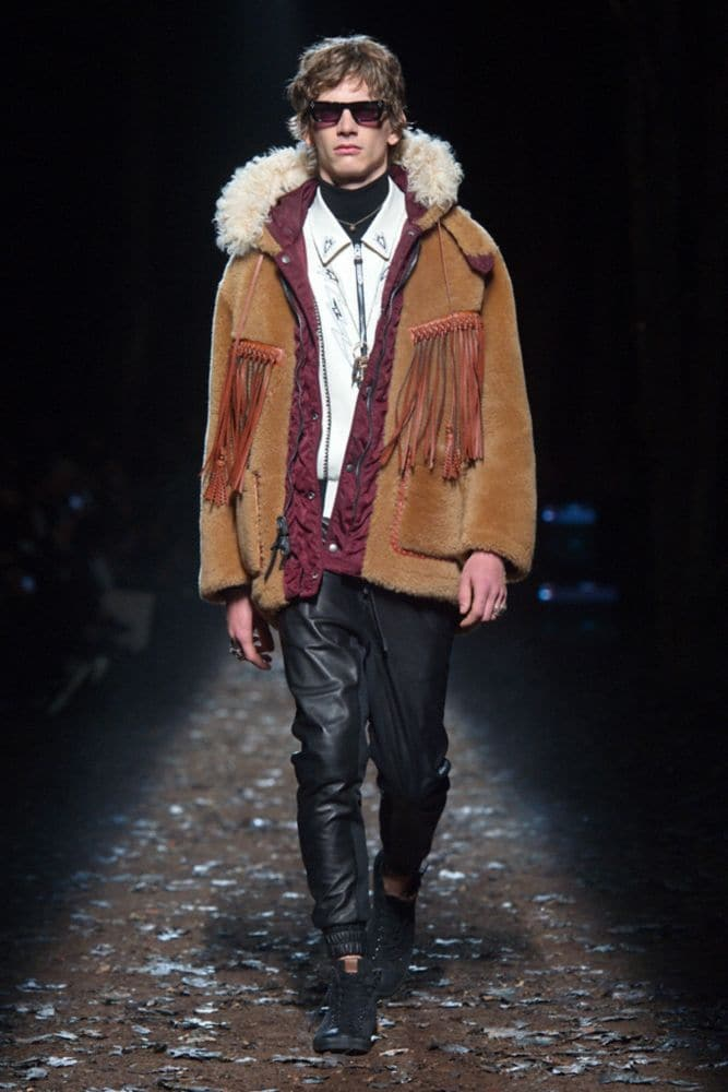 Coach Western Parka With Fringe Alternate View 5
