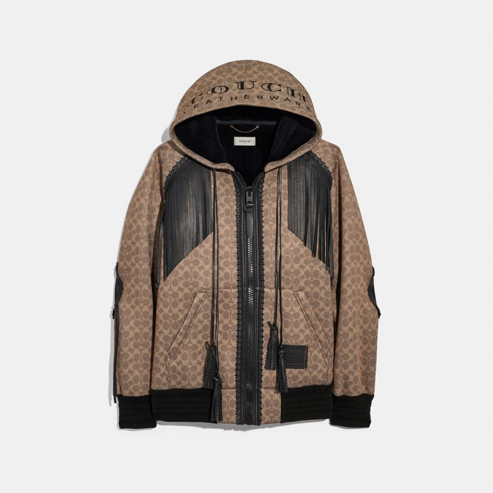 """Coach Signature Western """"Couch"""" Hoodie"""