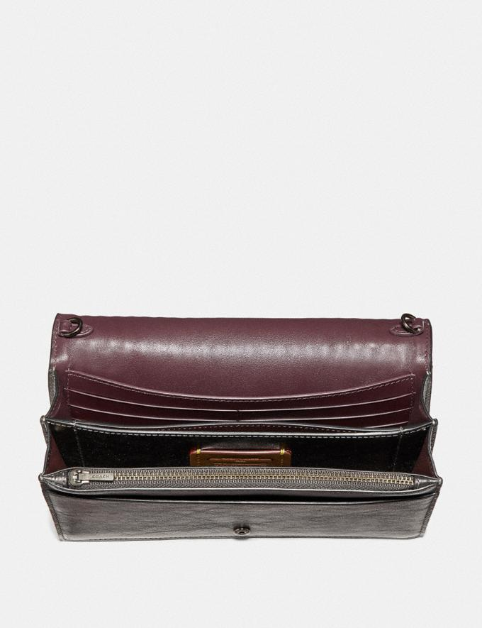 Coach Callie Foldover Chain Clutch With Colorblock Deco Quilting and Rivets Metallic Graphite Multi/Pewter SALE Boxing Week New to Sale Alternate View 2