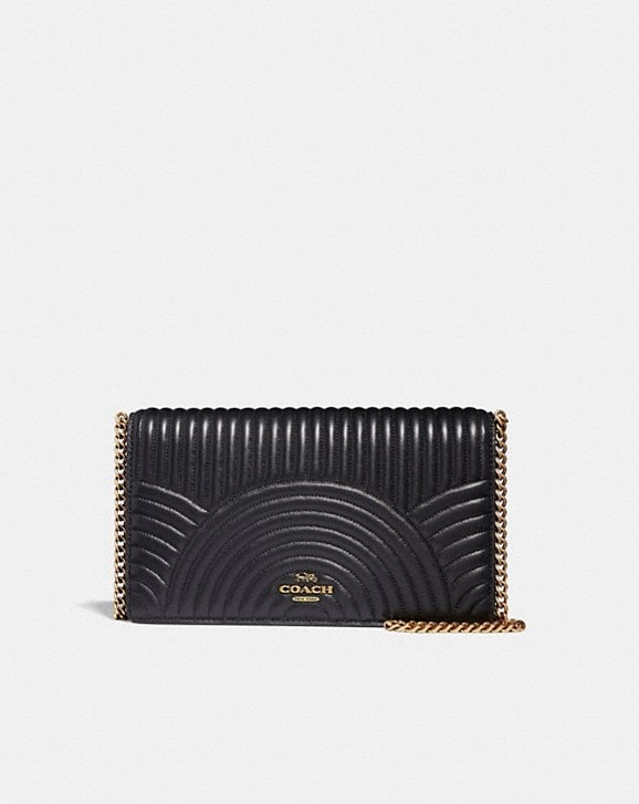 Coach CALLIE FOLDOVER CHAIN CLUTCH WITH DECO QUILTING