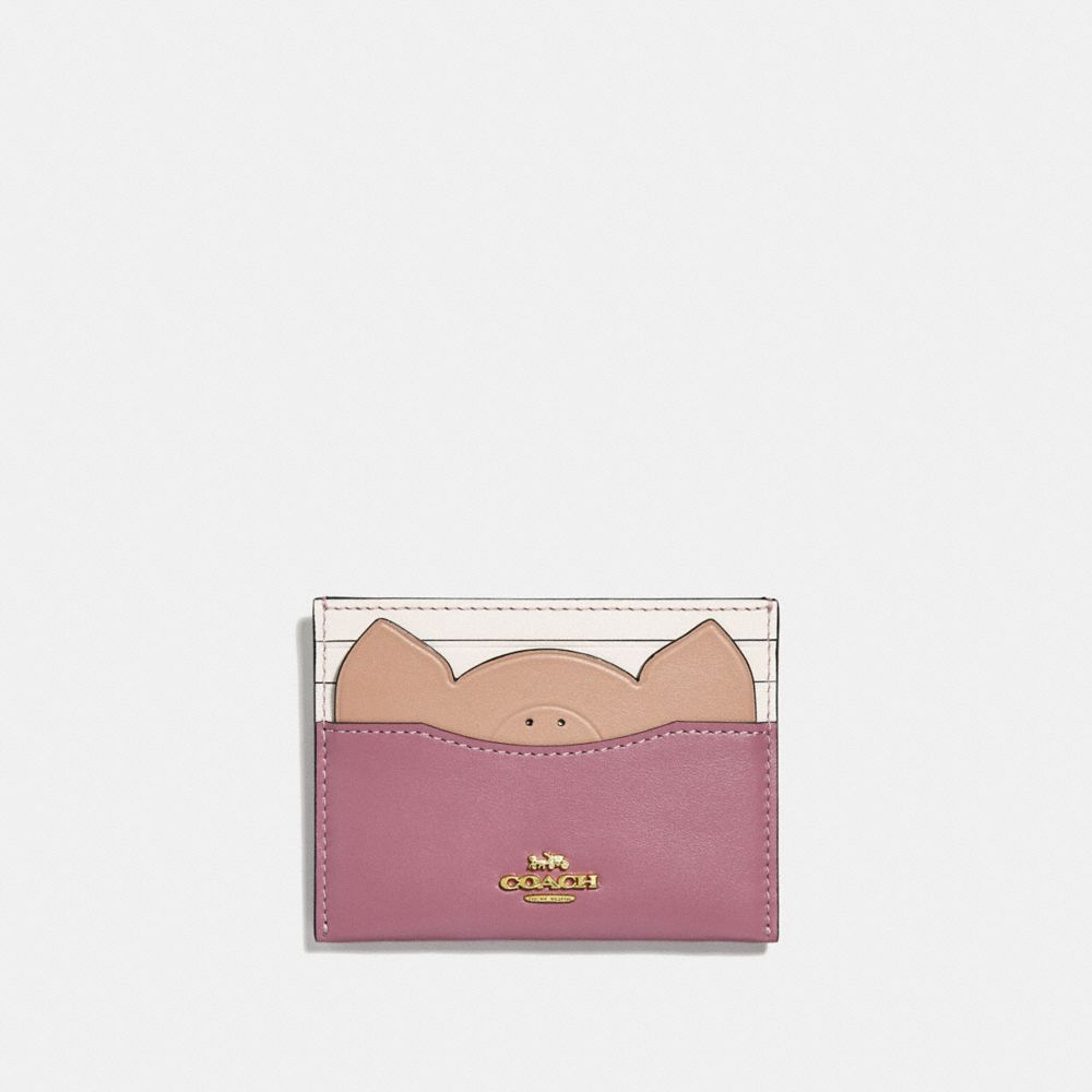 CARD CASE WITH PIG