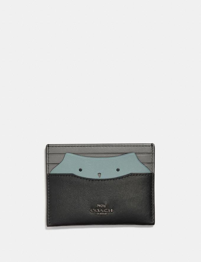 Coach Card Case With Owl Black/Gunmetal Gifts For Her Under £100
